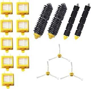 Replacement Parts Kit Bristle Brush Flexbile Beater Side Brush Hepa Filters for Irobot Roomba 700 Series Vacuum Accessories