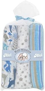 Mull-Windeln gerollt im Säckchen Blau 80x80cm: Amazon.es ...