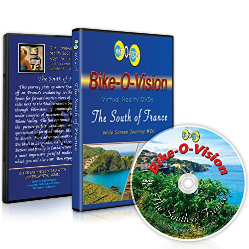 Bike-O-Vision - Virtual Cycling Adventure - The South of France - Perfect for Indoor Cycling and Treadmill Workouts - Cardio Fitness Scenery Video (Widescreen DVD #26)