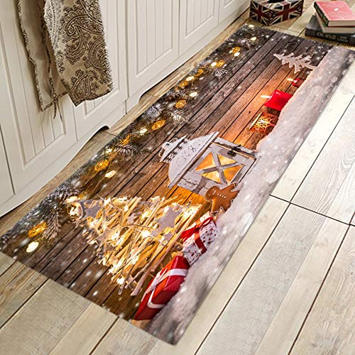 ZCMTD Printed Floor Mats Soft Bedroom Living Room Carpet 3D Door Mat Anti-Slip Kitchen Rugs Water Absorbent Carpets 60Cmx180Cm