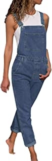 Denim Overalls for Women Adjustable Strap Basic Boyfriend Fit Bib Rompers Jeans Pants