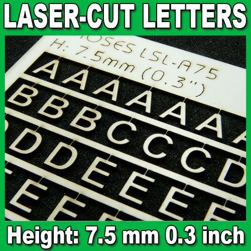 Proses LSL-A75 Lettres Découpées au Laser 7.5mm (1/3 inch)