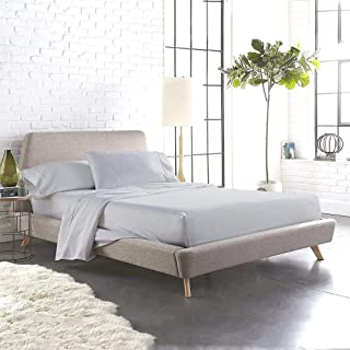 Urban Space Marvel 300 TC 100% Percale Cotton King Size Bedsheet with 2 Pillow Covers, Solid Plain bedsheet, Silver Ash Grey, 108 inch x 108 inch Size