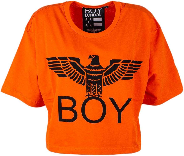 Boy London Women's 172ST028398419 orange Cotton TShirt