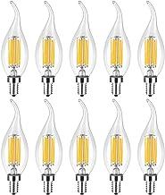 Led bulbs, YWXLIGHT, E12 LED Filament Bulb LED Candle Lamp 6W Equivalent Replacement 60W Halogen Lamp AC 110-130V Vintage ...