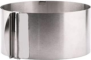 Useekoo Cake Ring Molds 6-12 Inch Adjustable Cake Mousse Pastry Tiramisu Round Circle Molud Stainless Steel Cake Decor Mold Ring