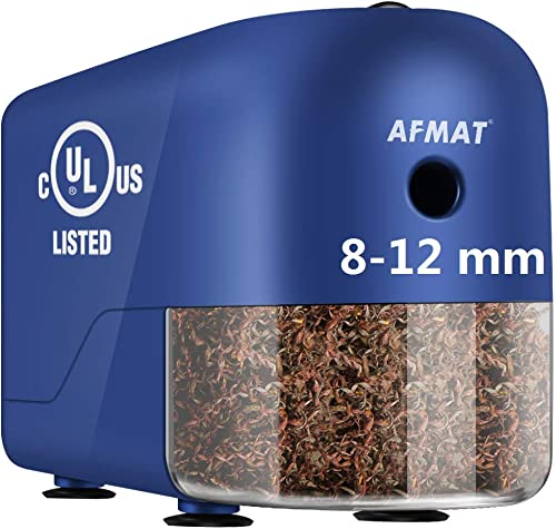new arrival AFMAT wholesale Colored Pencil Sharpener, Commercial ElectricPencilSharpener, Heavy wholesale Duty PencilSharpenerfor8-12mmNo.2/JumboPencils,Large Professional Pencil Sharpener for Classroom, Teacher Gifts online sale