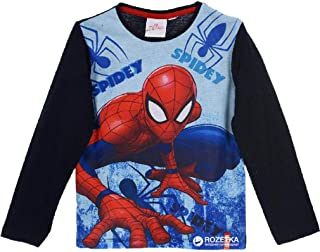 Marvel Spider-Man Camiseta Manga Larga para Niños, 100% Algodón
