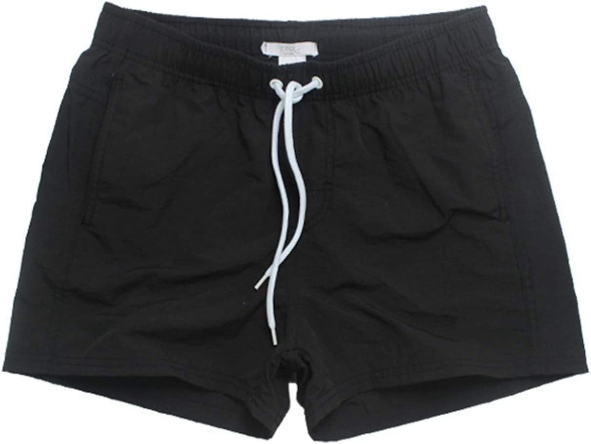 Board Shorts Mens, Beach Pants, Loose Casual Shorts,Quick Dry,Waterproof Surfing Shorts Swim Trunks (Color : Black, Size : Large)