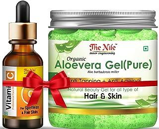 The Nile Professional Vitamin C Face Serum For Spotless n Fair Skin n Pure Organic Aloe Vera Gel for Whitening Skin, 30 + ...