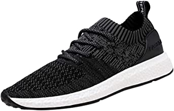 Men's Energy Cushioning Sneakers, Ultra Lightweight Breathable Casual Athletic Running Shoes Knitted Socks Mesh Shoes