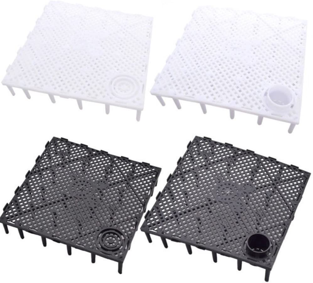 1Pc Square Aquarium Fish Tank Under Gravel Bottom Filtration Plate Board Filter Decorative Under Gravel Enhancer System Drain Rack 03 Black Without Nozzle Durable and Useful