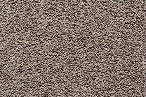Teppichboden Shaggy Hochflorteppich Bodenbelag Auslegware Uni schlamm 300 x 400 cm. Weitere Farben und Größen verfügbar