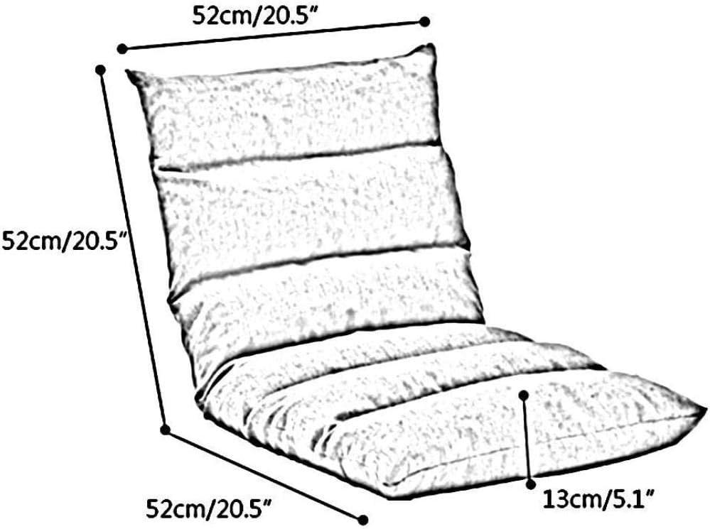 Chaise De Bureau Chaise De Méditation Simple Pliable 5 Vitesses Canapé Paresseux Réglable Librement Coussin De Sol Amovible Et Lavable -Dark_Gray Jaune