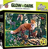MasterPieces Hidden Images Glow in The Dark Jigsaw Puzzle, The Woodlands, Fox, Featuring Art by Steve Read, 550 Pieces
