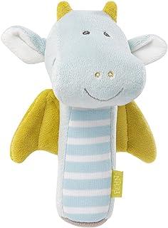 Fehn 065053 Stabgreifling Drache / Greifling zum Quietschen, Fühlen und Spielen - ein treuer Begleiter für Babys und Kleinkinder ab 0 Monaten