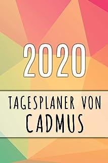 2020 Tagesplaner von Cadmus: Personalisierter Kalender für 2020 mit deinem Vornamen