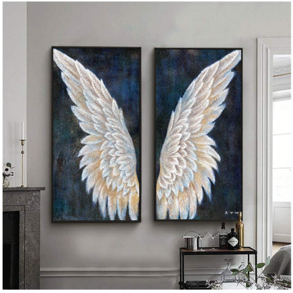 Large Canvas Wall Art Vintage Angel Wings Modern Painting Living Room  Decoration Mural Home  10x10cmx10Pcs No Frame