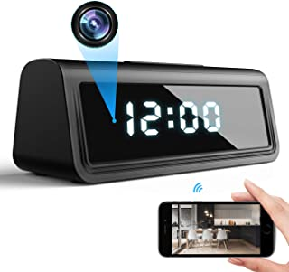 DEXILIO 4K WiFi Spy Clock Camera, Wireless Small Covert Nanny Cam with Night Vision and Motion Detection,Hidden Mini Secur...