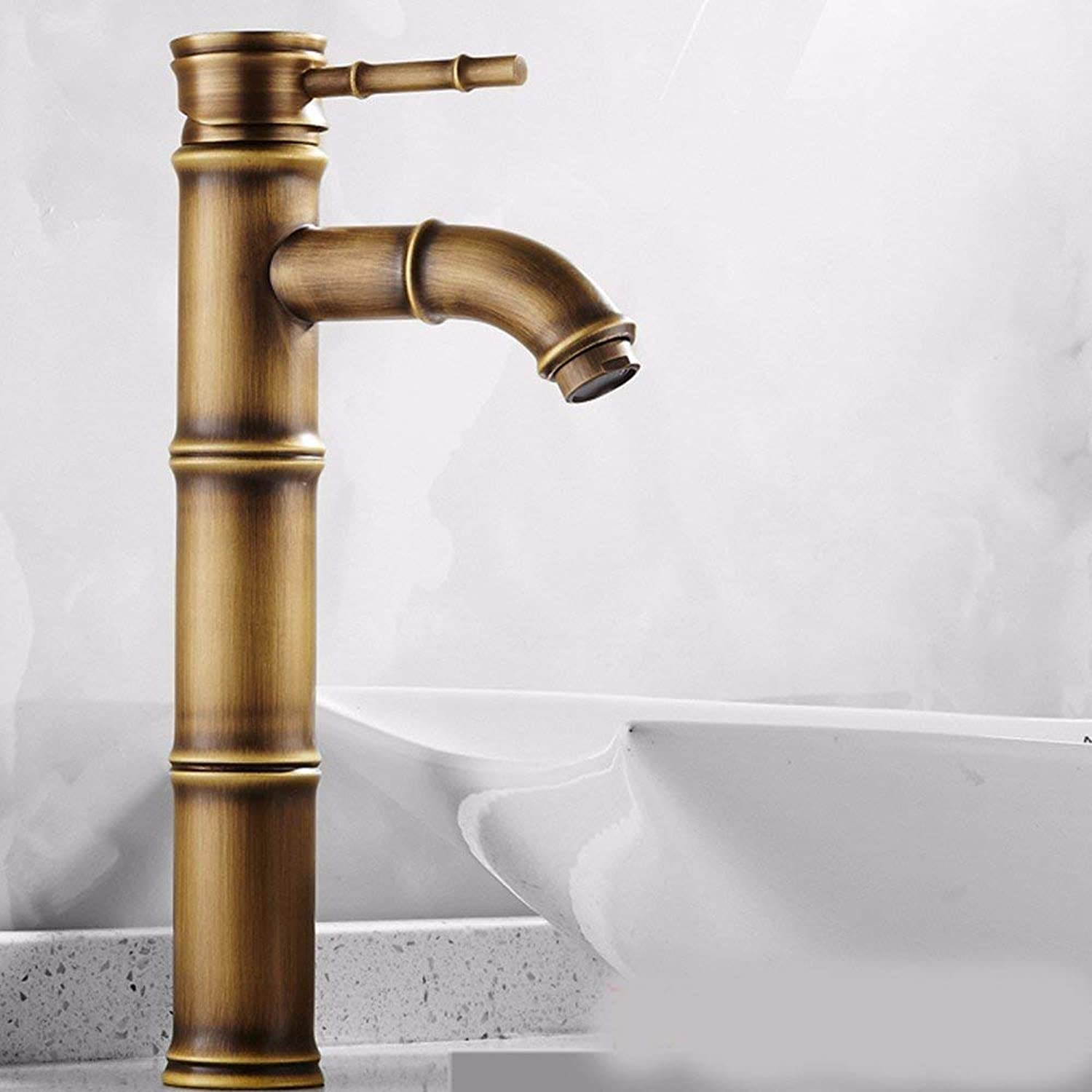 Oudan Basin Mixer Tap Bathroom Sink Faucet European retro style, copper basin, hot and cold, and the sink faucet 4 (color   8)