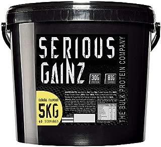 The Bulk Protein Company 5 kg Banana Serious Gainz Mass Gainer Powder by The Bulk Protein Company