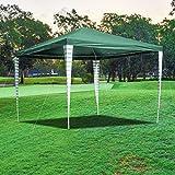 wolketon Carpa 3x3m de jardín Impermeables Gazebo Protección UV 50+ Pergola Cenador Camping Cenadores para Jardin, Playa, terraza, Verde