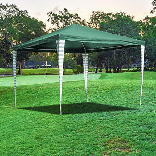 wolketon Pavillon 3x3m Wasserdicht Festzelt UV-Schutz Stabiles Gartenpavillon Grün Gartenzelt Partyzelt Ohne Seitenteile für Markt Camping Hochzeiten Festival