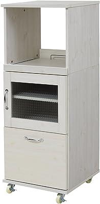 JKプラン 食器棚 ホワイト 45×44.5×120cm FLL-1002-WH