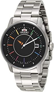 Orient Automatic Black Dial Stainless Steel Band Watch for Men - SER0200D