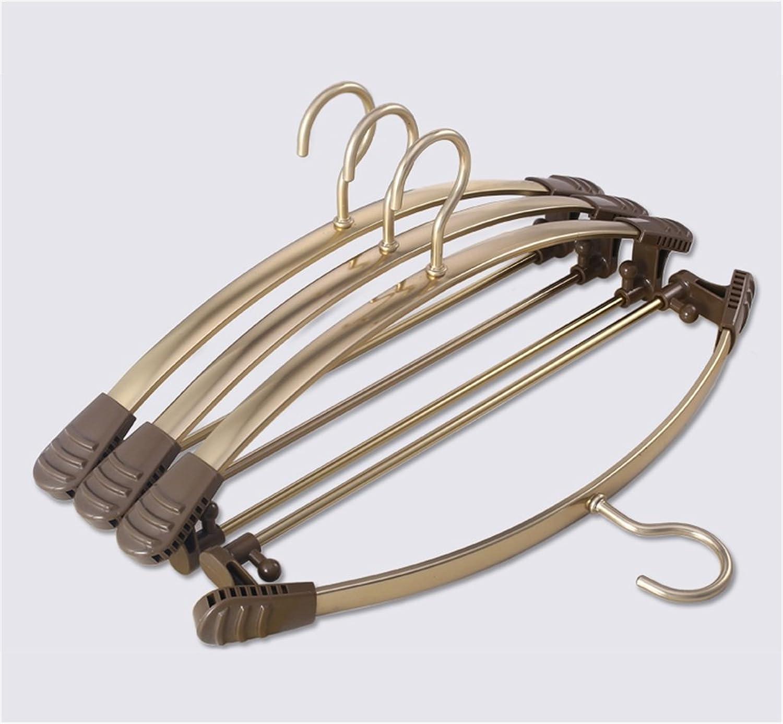 AIDELAI Coat Rack Aluminum Hanger Non-Slip Sticks Hanging Clothes Rack Adult Clothes Support Pants Rack(10 Packs) (color    1)