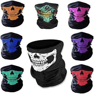8PCS/Set Ghost Seamless Skull Elasticity Motorcycle Face Tube Mask Riding Headwear Headband Bandana