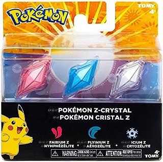Pokemon Z-Ring Crystals 3 Pack Fairium Z Flyinium Z Icium Z