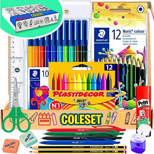 Materiale Scolastico cancelleria scuola matite colorate set cancelleria colori per bambini cartoleria scuola matite colorate bambini cartoleria kawaii