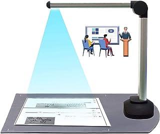 A4フォーマットLED補助光、リアルタイムプロジェクションビデオ録画の汎用性を持つ8 MPハイ・デフィニションブック&書画カメラとOCR多言語認識ドキュメントスキャナカメラ