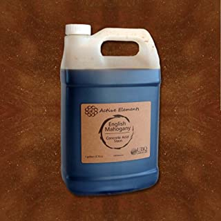 Stain for Concrete Acid Stain English Mahogany (Rich Brown) 1 Gallon