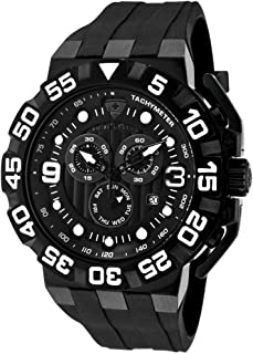Swiss Legend Challenger For Men Black Dial Silicone Band Watch - SL-10125-BB-01-SA