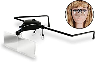 Eyelash Extension Supplies - MAGNIFIER GLASSES - LED LIGHT - For Applying Eyelashes, Eyebrow Treading, or Esthetician Close Up Work