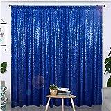Partisout Sequin Curtain Backdrop 8ftx8ft Sequin Backdrop SequenceBackdrop Party Glitter Backdrop SparkleBackdrop Wedding Photo Backdrop and Shimmer Backdrop (8ftx8ft, Royal Blue)