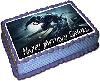 Venom Personalized Cake Toppers Icing Sugar Paper 1/4 8.5 x 11.5 Inches Sheet Edible Frosting Photo Birthday Cake Topper Fondant Transfer (Best Quality Printing)