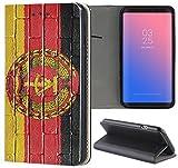 KX-Mobile Huawei Y6 2018 Hülle - Handyhülle für Huawei Y6 2018 - Handycover aus Kunstleder Motiv 1049 Flagge DDR Ostdeutschland Zone Schutzhülle Smart...
