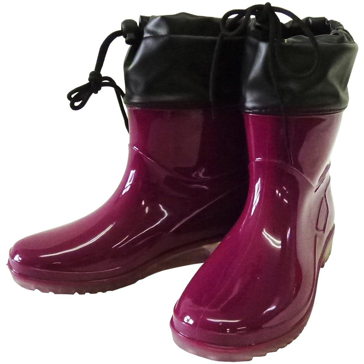 医師医師ホイットニーSS 婦人PVCお手軽ブーツ ワイン LL (25.0~25.5cm) WINE SS-0189