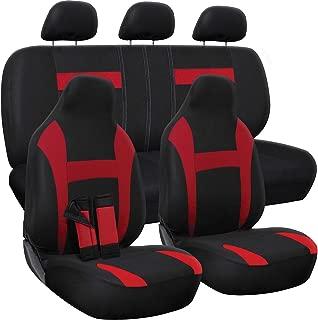 OxGord Car Seat Cover - Red/Black fits Car, Truck, Van, SUV - Full Set