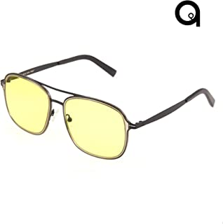 NEWTRO 001 Apury I Iron Man Look I Blue Light Prevention I UV Protection I Clear Vision I Eye Protection I (Yellow Lens I ...
