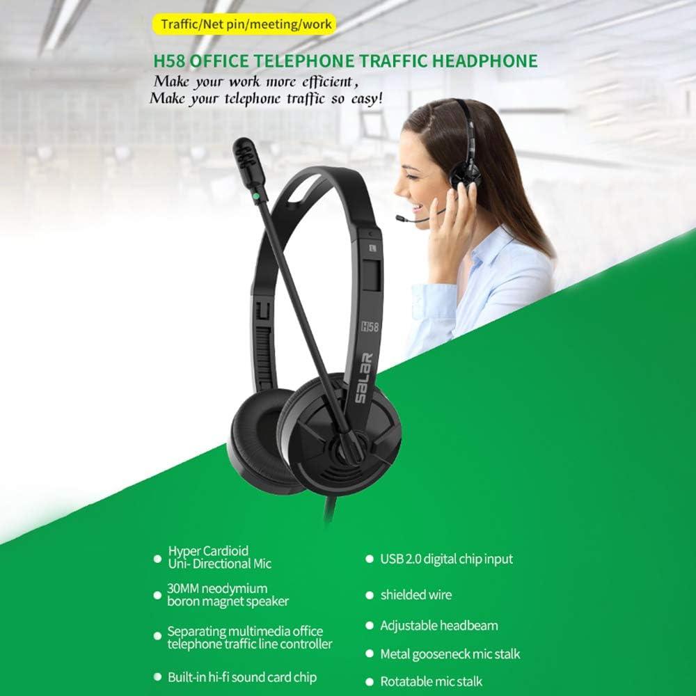 Wired Stereo Computer Business Headphone Phone Headset Earphone ...