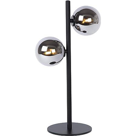 Lucide 45574/02/30 Lampe de Table, Acier, 56 W, Black