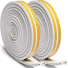 Fen/être Joint en aoutchouc d/étanch/éit/é en Caoutchouc imperm/éable Auto-adh/ésive anticollision pour la Fen/être Le Fond de la Porte IWILCS 2 Pack/×16M Bande de Joint D-Profil