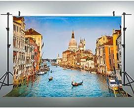 6x6FT Vinyl Photo Backdrops,Italian Flag,Grunge Pop Art Venice Photo Background for Photo Booth Studio Props