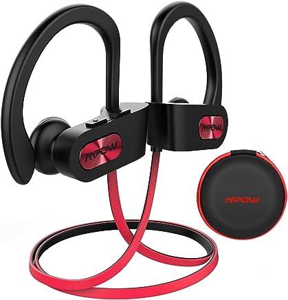 Mpow Flame Cuffie Bluetooth 4.1 Sport IPX7 CVC 6.0, Auricolari Bluetooth Impermeabile, Cuffie per DJ in-Ear per Ciclismo con Eva Borsa per iPhone, Samsung, Huawei, Sony ECC - Rosso