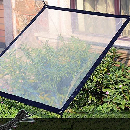 Wyi 2 x 2 m Transparente wasserdichte Plane Plane Plane strapazierfähig staubdicht regendicht Plane Anti-Aging Isolierung PE für Camping Angeln Garten