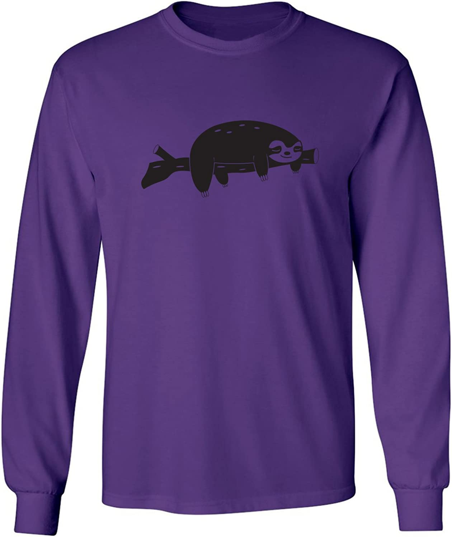 zerogravitee Sloth Adult Long Sleeve T-Shirt